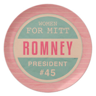 Women For Mitt Romney Dinner Plate