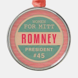 Women For Mitt Romney Metal Ornament