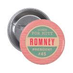 Women For Mitt Romney Pinback Buttons