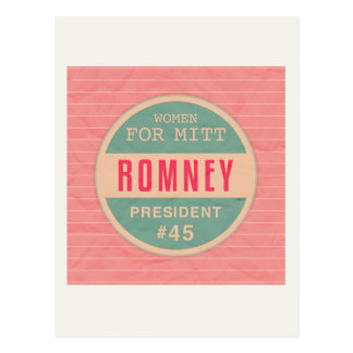Women For Mitt Romney Postcard
