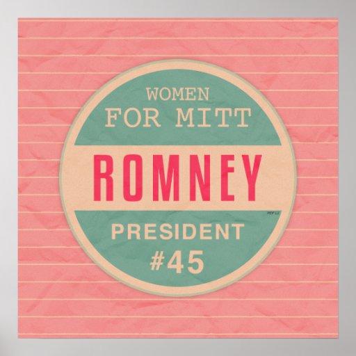 Women For Mitt Romney Posters