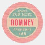Women For Mitt Romney Stickers