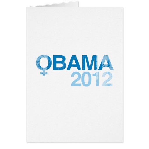 WOMEN-FOR-OBAMA-2012-- Vintage.png Greeting Cards