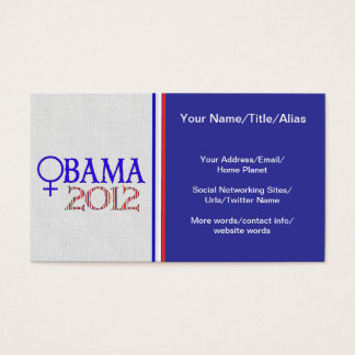 WOMEN FOR OBAMA BUSINESS CARD