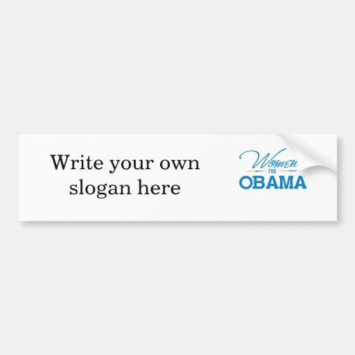 Women for Obama Car Bumper Sticker