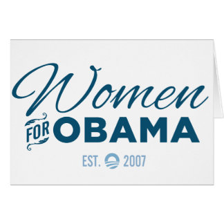 Women for Obama Card