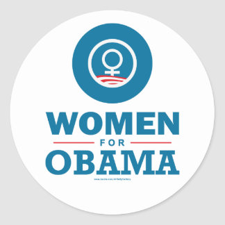 Women for Obama Classic Round Sticker