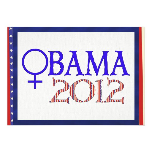 WOMEN FOR OBAMA PERSONALIZED ANNOUNCEMENT
