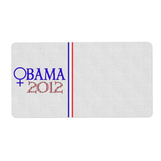 WOMEN FOR OBAMA CUSTOM SHIPPING LABELS