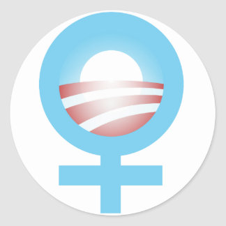 Women for Obama Logo Classic Round Sticker