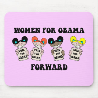 women for obama mouse pad