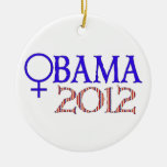 WOMEN FOR OBAMA ORNAMENTS