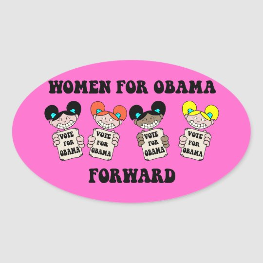 women for Obama Oval Sticker