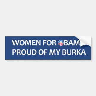 Women for Obama. Proud of my burka Bumper Sticker