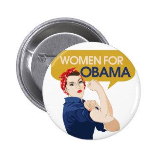 Women for Obama Retro 2 Inch Round Button