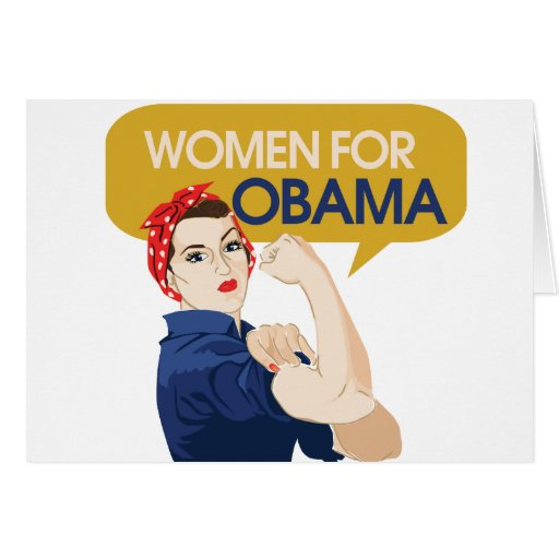 Women for Obama Retro Greeting Card