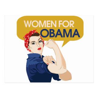 Women for Obama Retro Postcard