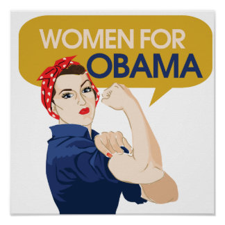 Women for Obama Retro Poster