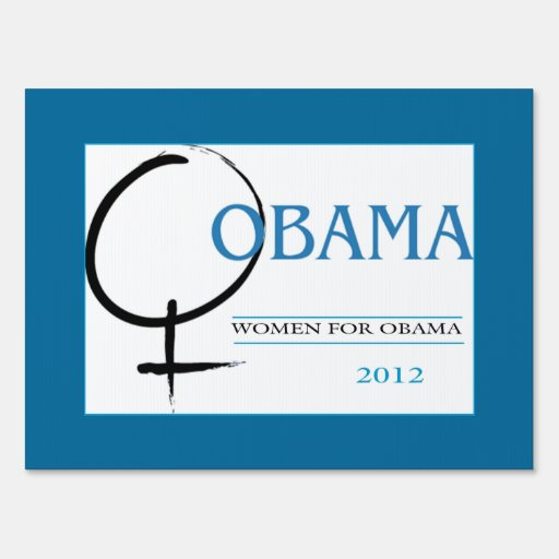 Women for Obama sign