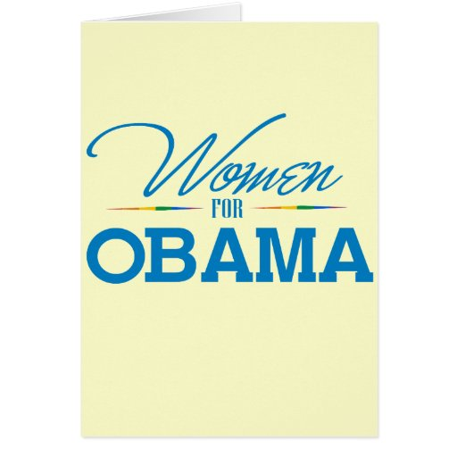 Women for Obama Stationery Note Card