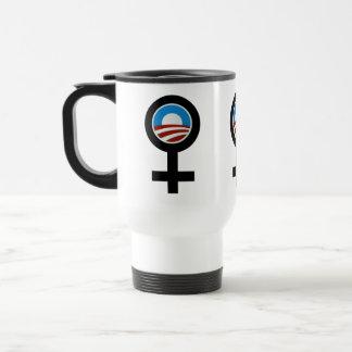 Women For Obama Synbols 15 Oz Stainless Steel Travel Mug