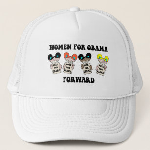 1006c663824 Women For Obama Baseball   Trucker Hats