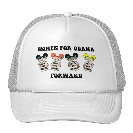 women for obama trucker hat