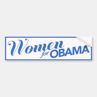 Women For Obama White / Blue Bumper Sticker
