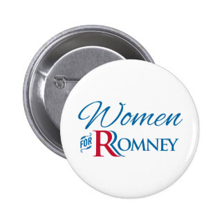 Women for Romney Pinback Buttons