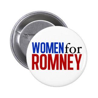 Women for Romney Pinback Button