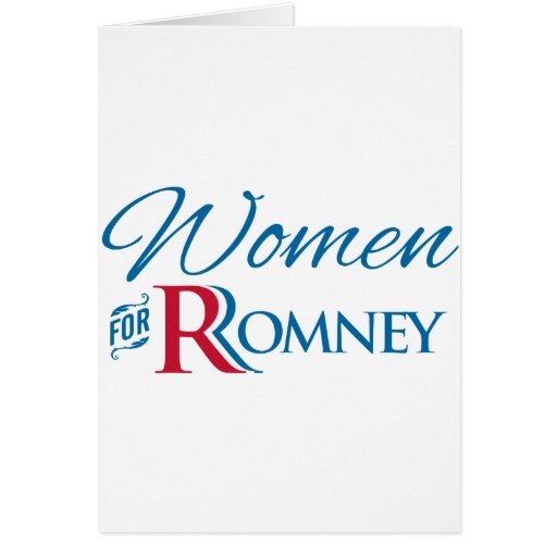 Women for Romney Greeting Card