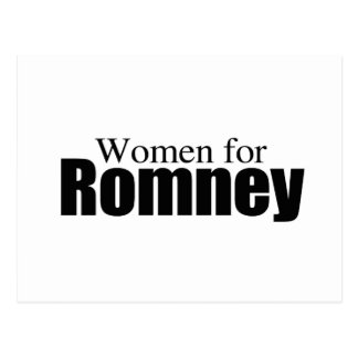 WOMEN FOR ROMNEY png Post Card