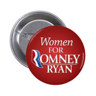 Women for Romney Ryan - red Button