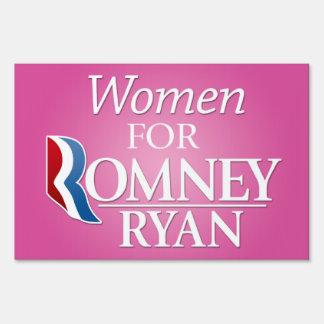 Women for Romney Ryan Sign