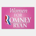Women for Romney Ryan Yard Signs