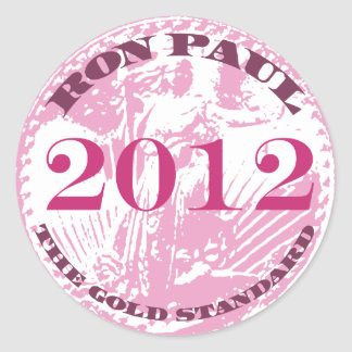 WOMEN FOR RON PAUL CLASSIC ROUND STICKER