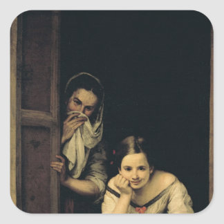 Women from Galicia at the Window, 1670 Square Sticker