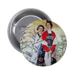 Women From Tang Dynasty Chinese Vintage Art 2 Inch Round Button