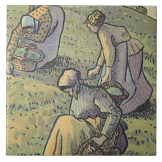 Women Gathering Mushrooms, from 'Travaux des Champ Tile