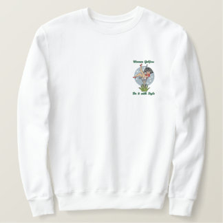 Women Golfers Embroidered Sweatshirt