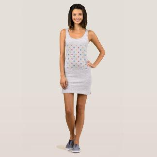 Women grey Mini dress with Dots