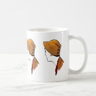 Women hat drawing made in 50's coffee mug