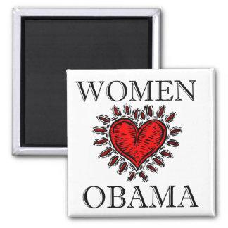 Women Heart Obama Magnet