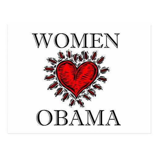 Women Heart Obama Post Cards