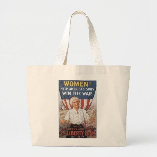 Women! Help America's Sons Large Tote Bag