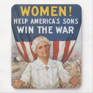 Women! Help America's Sons Mouse Pad