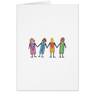 WOMEN HOLDING HANDS GREETING CARD