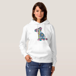 Women Hooded Sweatshirt Chinese crested dog