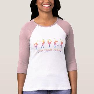 women - I love figure skating, pastel rainbow T-Shirt