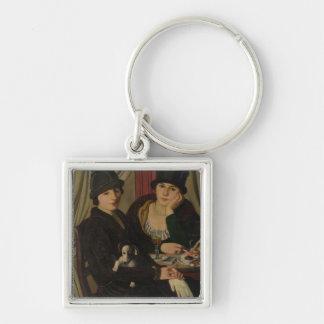 Women in a Cafe, c.1924 Keychain